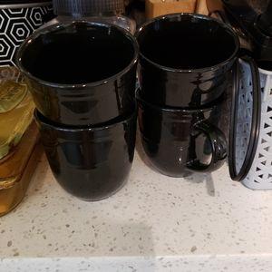Other - Farmhouse look Black mugs